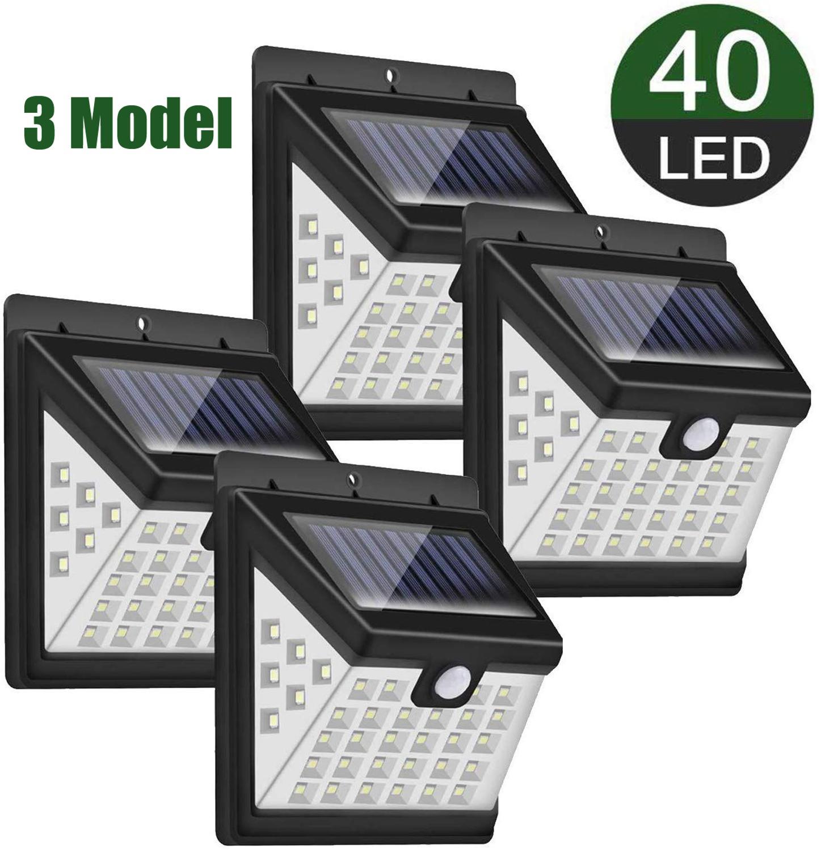 Outdoor Solar Lamp 40 LED Solar Light Powered Sunlight Waterproof 3 Mode PIR Motion Sensor Street Light For Garden Decoration