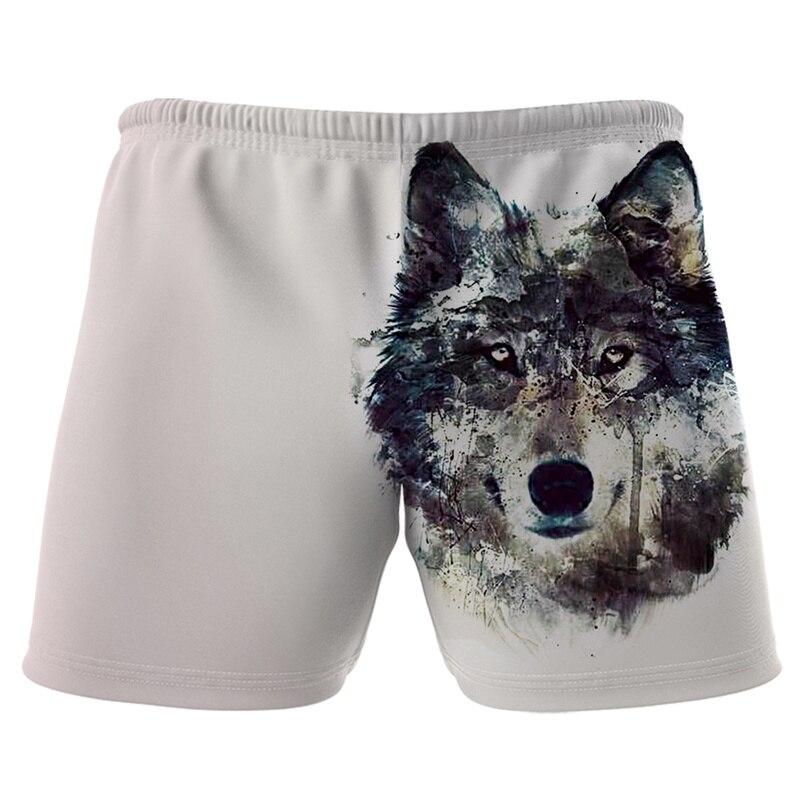 Childrens Unisex Wolf-Printed Shorts