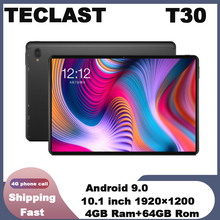 Teclast T30 4G Phone Call Tablet Andriod 9.0 10.1″ 1920×1200 MTK P70 4GB RAM 64GB ROM Tablets PC Dual Camera GPS Type-C 80