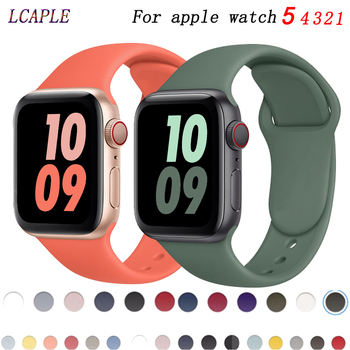 sport strap for apple watch band 44mm 40mm 42mm 38mm silicone bracelet smart wristband correa for iwatch series 6 5 4 3 2 1 se Silicone Strap For Apple Watch band 40mm 44mm 38mm 42mm Rubber Sport bracelet iWatch series 3 se 4 5 6 correa apple watch 6 band