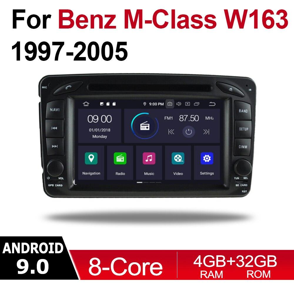 2 Din Автомобильный мультимедийный плеер Android 9 Авто радио для Mercedes Benz M Class W163 1997 ~ 2005 NTG DVD GPS 8 ядер 4 Гб + 32 Гб Bluetooth|Мультимедиаплеер для авто| | АлиЭкспресс