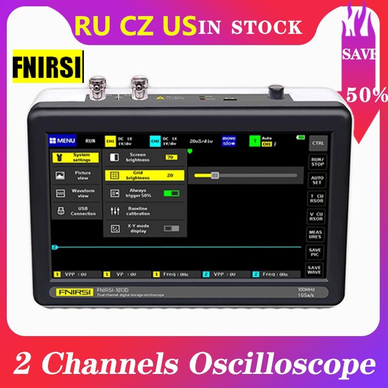 ADS1013D Digital tablet oscilloscope dual channel 100M bandwidth 1GS sampling rate mini tablet digital oscilloscope Touch Screen|Oscilloscopes|   - AliExpress
