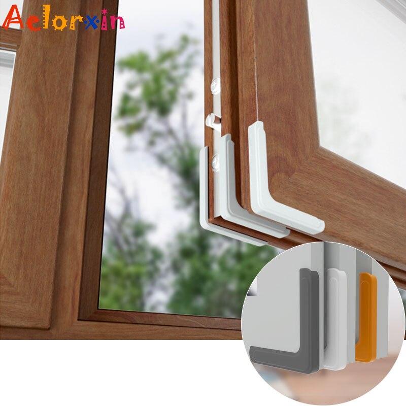 4Pcs/Lot Silicone Anti-collision Window Corner Protection Child Locks  Baby Safety Glass Edge Furniture Corner Protection