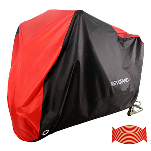 190T Black Red Waterproof Motorcycle Covers Motors Scooter Dust Rain Snow UV Protector Cover Indoor Outdoor M L XL XXL XXXL D35