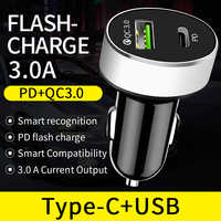 Quick Charge 4.0 3.0 USB Car Charger Voor iPhone 11 Pro 11Pro Max Type C PD Snelle Lading Auto Telefoon opladen in Sigarettenaansteker