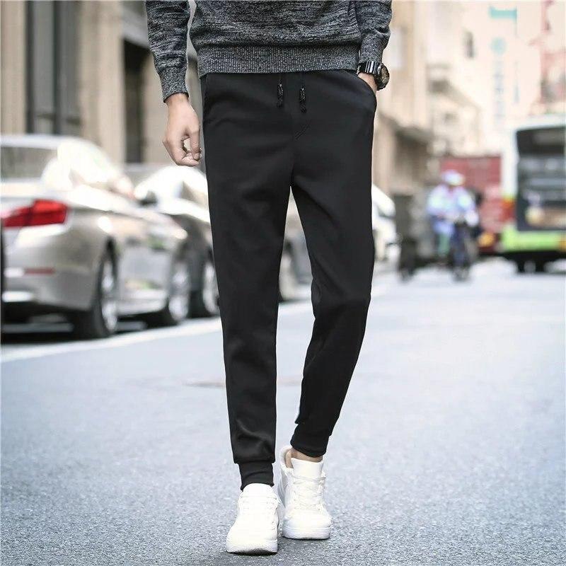 Autumn Athletic Pants MEN'S Long Trousers Sweatpants Teenager Men's Trousers Fashion Versatile Slim Fit Students Casual Pants