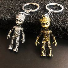 Popular Avengers Keychains  Groot Key Chain Pendant New Keyring Fund Sell Like Hot Cakes