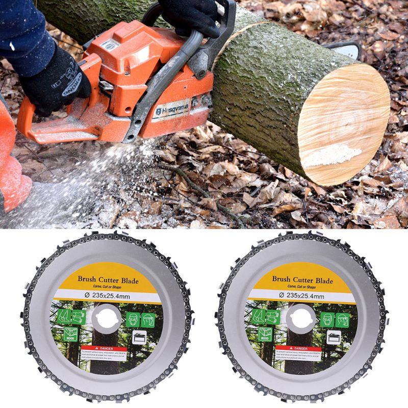 9 Inch 18 Teeth Chain Plate Angle Grinding Chain Disc Wheel Wood Carving For Angle Grinder Lawn Mower Saw Blade Brush Cutter
