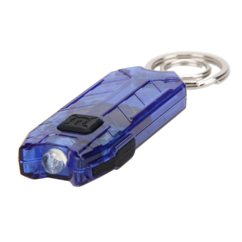 Practical Mini USB LED Keychain Flashlight Rechargeable Key Chain Keyring Light  Lamp Torch 5 Colors