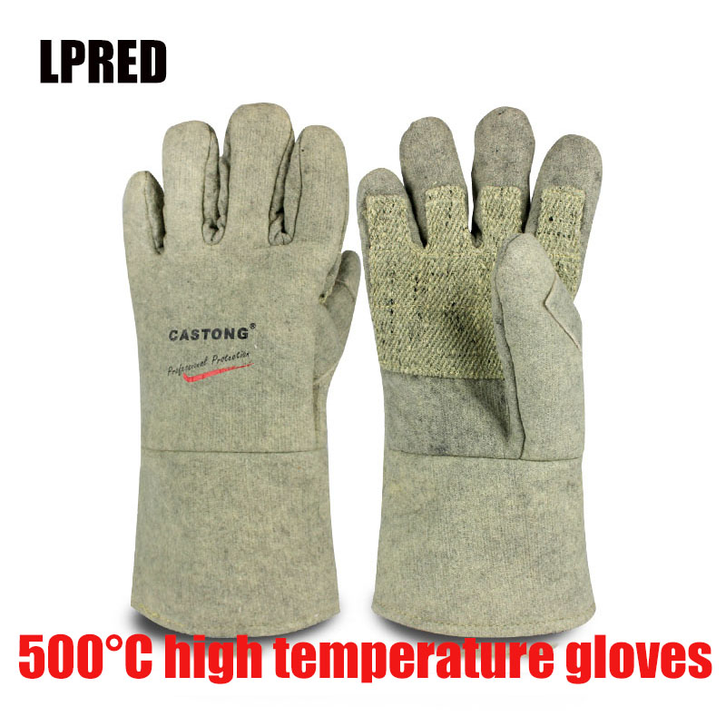 500 Degrees Heat Insulation Gloves High Temperature Resistant Gloves To Hot Flame Retardant Anti-scald Fire Aramid Fiber Woven
