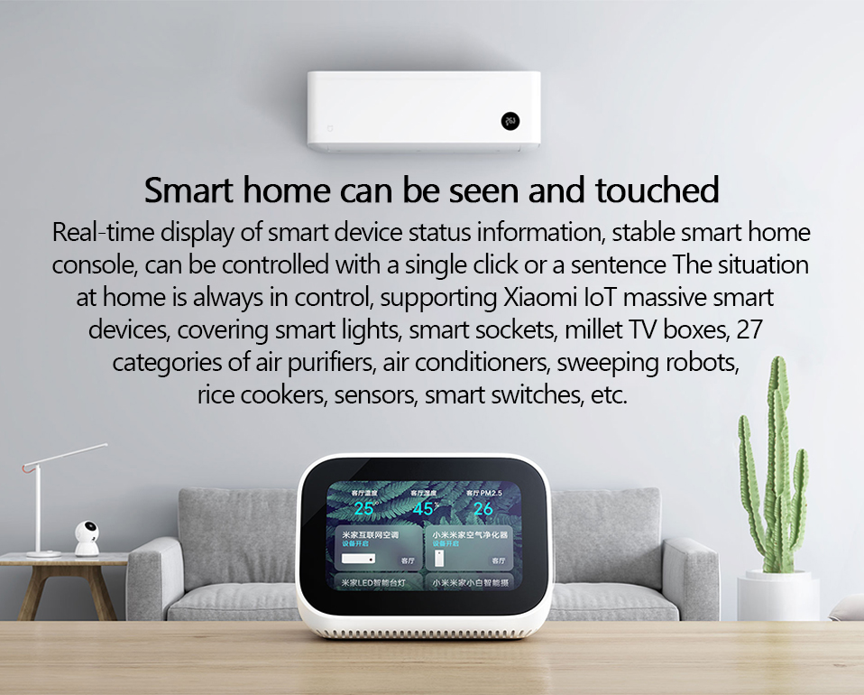 Xiaomi Ai Touch Screen Speaker with Alarm Clock 5