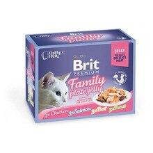 Корм для кошек, Brit, кусочки в желе, 12*85г