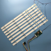 8pcs 438mm LED Backlight 4 Lamps strip kit Board w/ Optical Lens Fliter for 40 42 43 46 inch LCD LED TV 12V input update CCFL