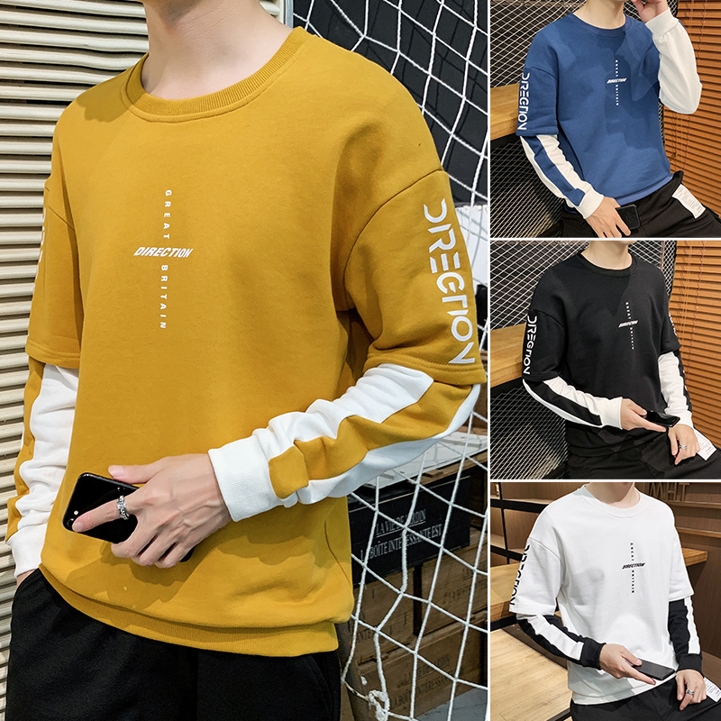 Casual Men's Hoodies Letter Sweatshirts For Men 2020 Spring Fitness Clothing Solid Color Sweatshirt Hooded Man High Quality