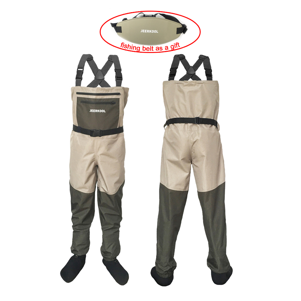 Fishing Clothes Hunting Wading Pants 3 Layer Waterproof Wading Suit Breathable Chest Waders Overalls Fly Fishing Jumpsuit FX1