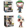 Harley Quinn Funko Pop Original Oficial DC Comics Super Heroes The Joker figuras boneca de brinquedo modelo Coleção presentes