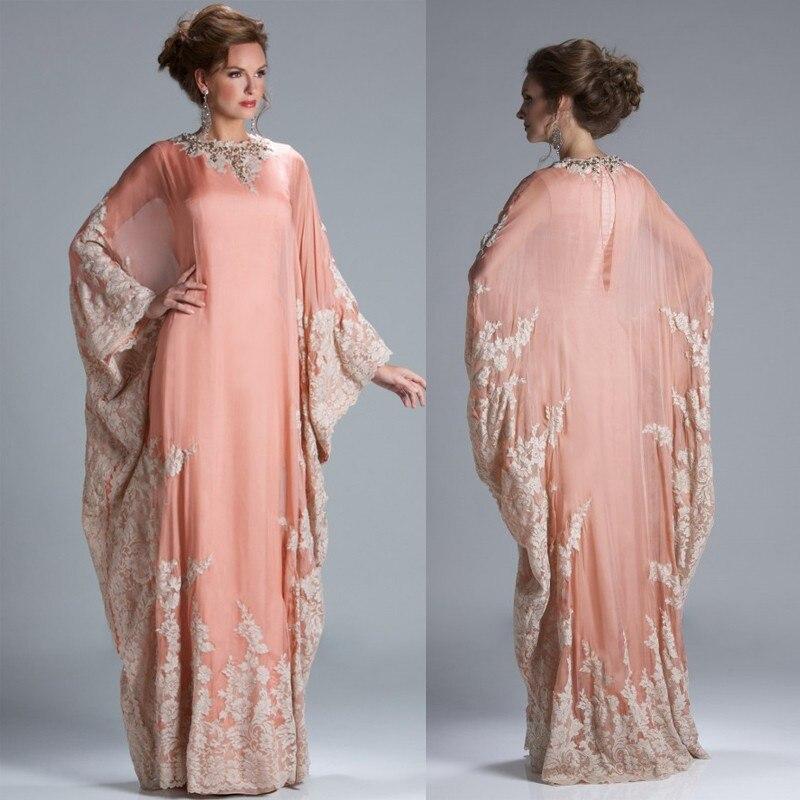 Caftan Marocaine 2020 New Luxury Beaded Dubai Kaftan Evening Dresses With Cape Chiffon Saudi Arabian Prom Gown Formal Dresses