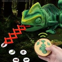 RC Animals Toys ;argr RC-Chameleon Lizard Pet Intelligent To