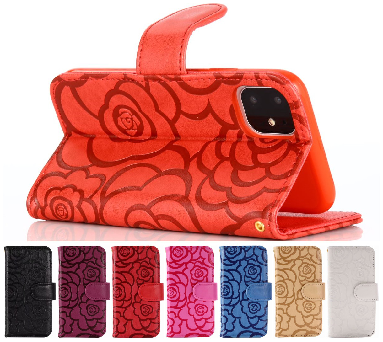 Solid Color Flower <font><b>Phone</b></font> <font><b>Case</b></font> Lady Wallet For <font><b>Samsung</b></font> Galaxy S5 S6 Edge <font><b>S7</b></font> Luxury Rose Flip Leather <font><b>Phone</b></font> Bag Stand Capa O14H image