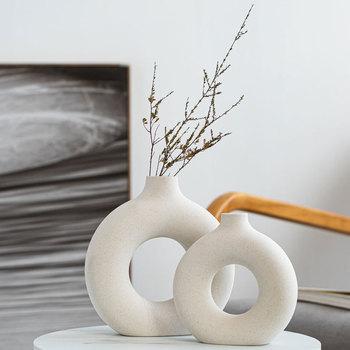 Modern Ceramic Vase for Dried Flowers Decoration Creative Art 2