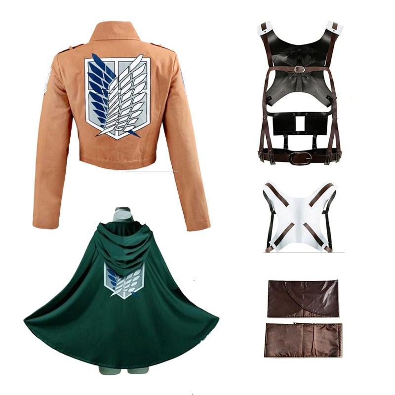 Costumes-Set Apron Skirt Harness-Belt Shorts Legion-Cape Recon Corps Titan Attack On