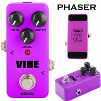 KOKKO FUV2 Mini Pedal Vibe Analog Square DC adapter Rotary Guitar Speaker Purple Guitar Part