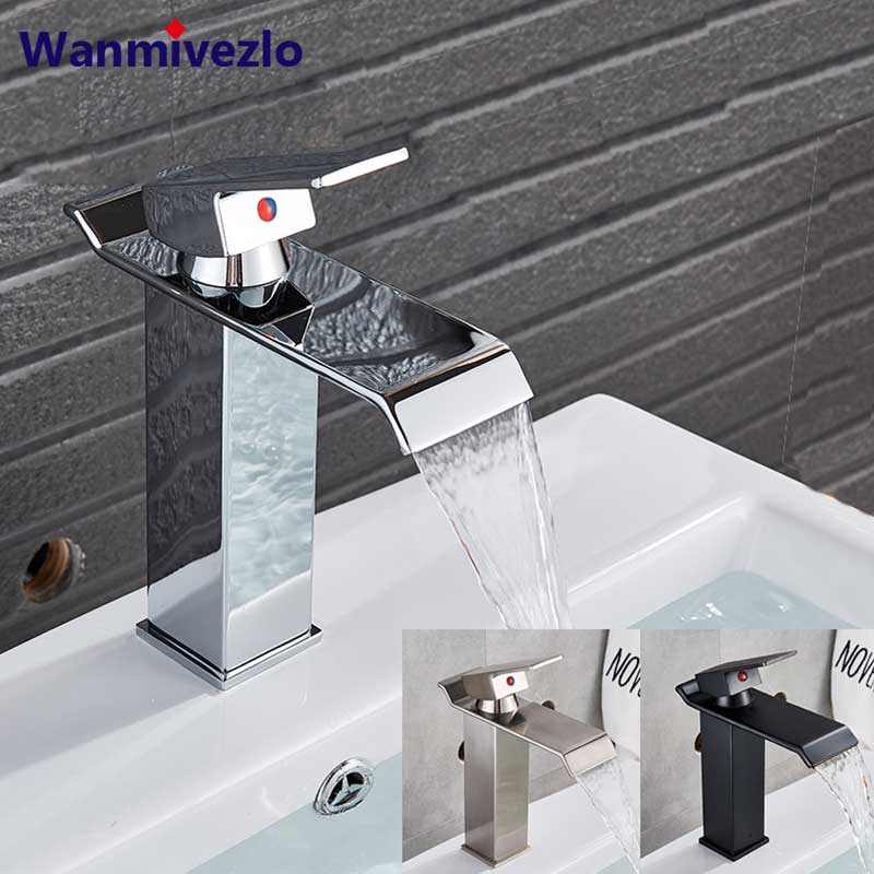 Bathroom sink Faucet Deck Mounted Basin Mixer Faucets Hot Cold Water Faucet Single Handle Washing Vessel Sink Taps Torneira-in Basin Faucets from Home Improvement