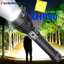 Super mocny Xlamp XHP70 2 XHP90 LED latarka latarka LED USB XHP50 lampa Zoom latarka taktyczna 18650 26650 akumulator Battey tanie tanio POCKETMAN 2-4 plików Aluminium Wysoka średnim niskie Samoobrona Odporny na wstrząsy Twarde Światło Regulowany XHP50 XHP70 2 XHP9