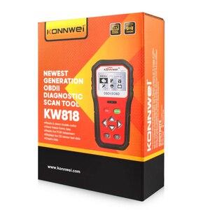 Image 5 - KONNWEI KW818 Enhanced OBDII ODB2 EOBD Car Diagnostic Scanner 12V Battery Tester Check Engine Engine Automotive Code Reader Tool