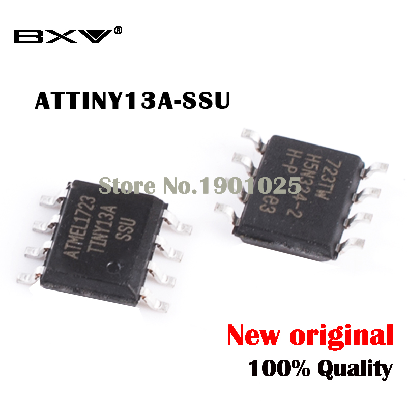 10pcs/lot ATTINY13 ATTINY13A TINY13A MCU AVR 1K FLASH 20MHZ IC ATTINY13A-SSU SOP-8