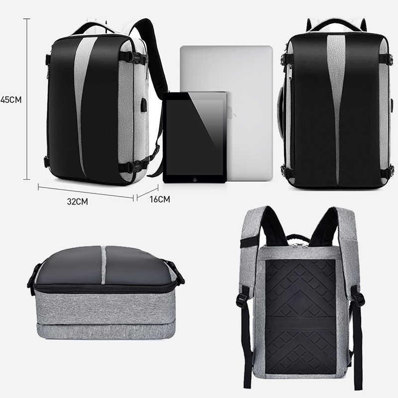 Anti Diebstahl Rucksack 17 Zoll Männer Frauen Laptop Rucksack USB Ladegerät 15,6 Zoll Bagpack Reise Wasserdichte Smart Große Tasche Für schule