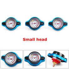 Racing Kleine Größe Thermost Kühler Kappe ABDECKUNG + Wasser Temp gauge 0,9 BAR oder 1,1 BAR oder 1,3 BAR Abdeckung keine logo (kleiner kopf)