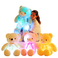 Teddy Plush-Toy Light-Up Glowing Christmas-Gift Animal Bear-Stuffed Luminous Creative