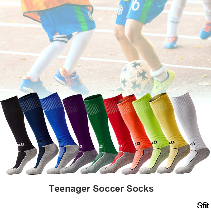 SFIT Outdoor Kids Professional Sports Football Socks Soccer Long Stocking Knee High Football Volleyball Breathable Children Sock