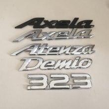 1 шт. 3D ABS Demio Axela Atenza 323 с автомобилями и надписями сзади наклейки на багажник эмблемы наклейки на авто аксессуары