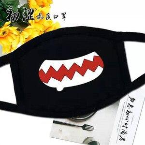 Image 5 - Хлопковая Пыленепроницаемая маска для лица аниме мультфильм Kpop Счастливый медведь для женщин и мужчин маффли маски со ртом для лица