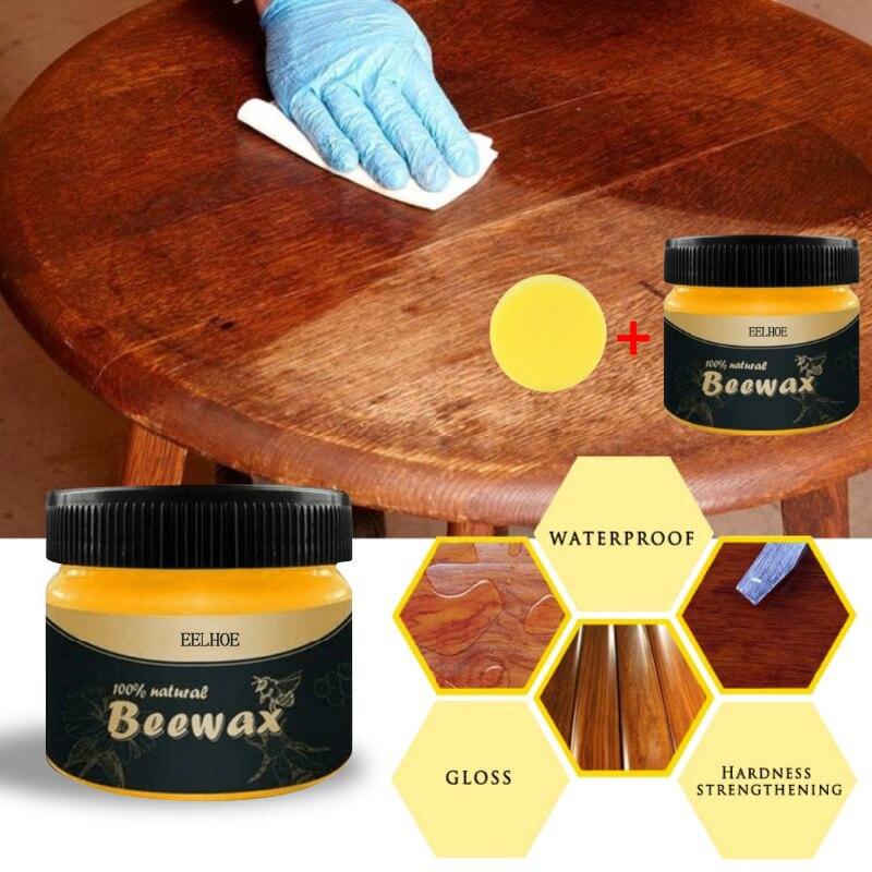 Pielęgnacja drewna przyprawa wosk pszczeli konserwacja z litego drewna czyszczenie polerowana pielęgnacja wosk pszczeli wodoodporna odporna na zużycie wosk do pielęgnacji mebli