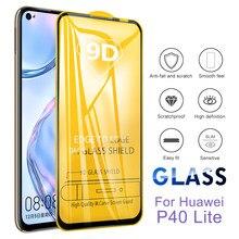 9D przeciwwybuchowe zakrzywione szkło hartowane dla Huawei P40 Lite E P40 Lite osłona ekranu pełna pokrywa P40 Lite E Film Verre Trempe