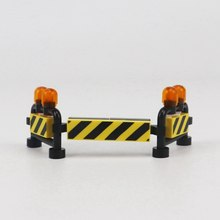 Legoing City Scenes Toy For Children Worker Bricks Gifts Model Toys Moc Warning sign Construction Compatible Legoings Cities Kit(China)