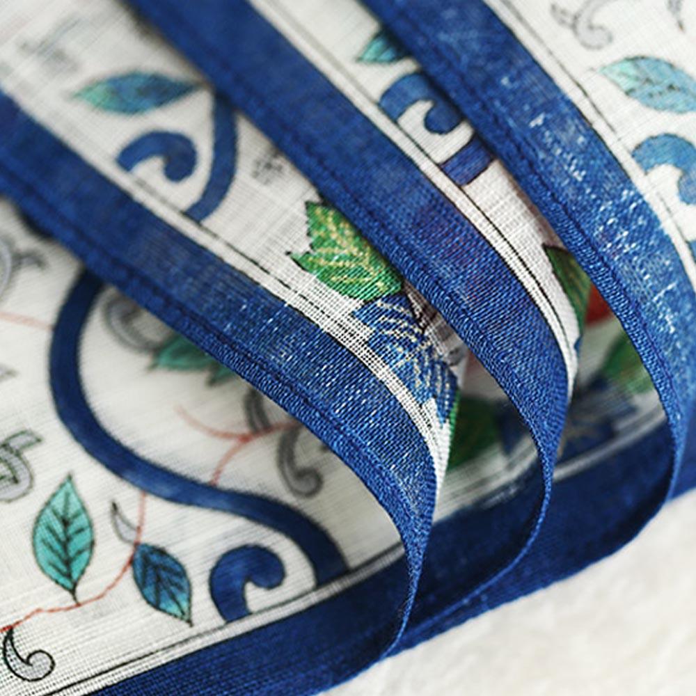 1PCS Blue Stripe Handkerchief 100/% Cotton Soft Square Pocket Part 48*48cm Hanky