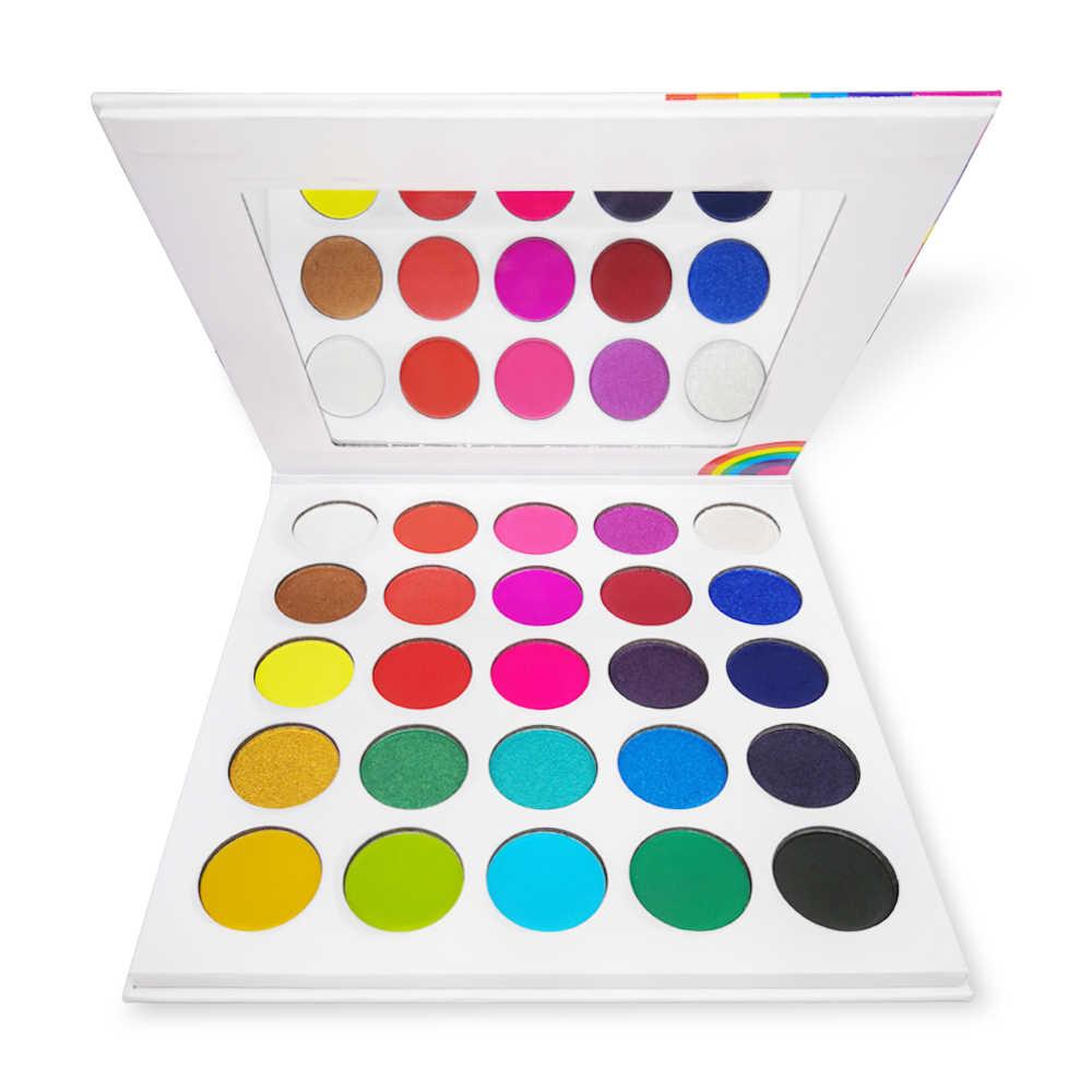 Kleurrijke Oogschaduw Palet Neon Poeder Shimmer Matte Glitter Oogschaduw Pallete Shining Pigment Make Regenboog Oog Cosmetische Kit