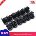 Черный пластиковый зажим для волос (12 шт)