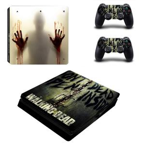 Image 4 - The Walking Dead PS4 Slim Stickers Play station 4 Skin Sticker Vinyl For PlayStation 4 PS4 Slim Console & Controller Skins Decal