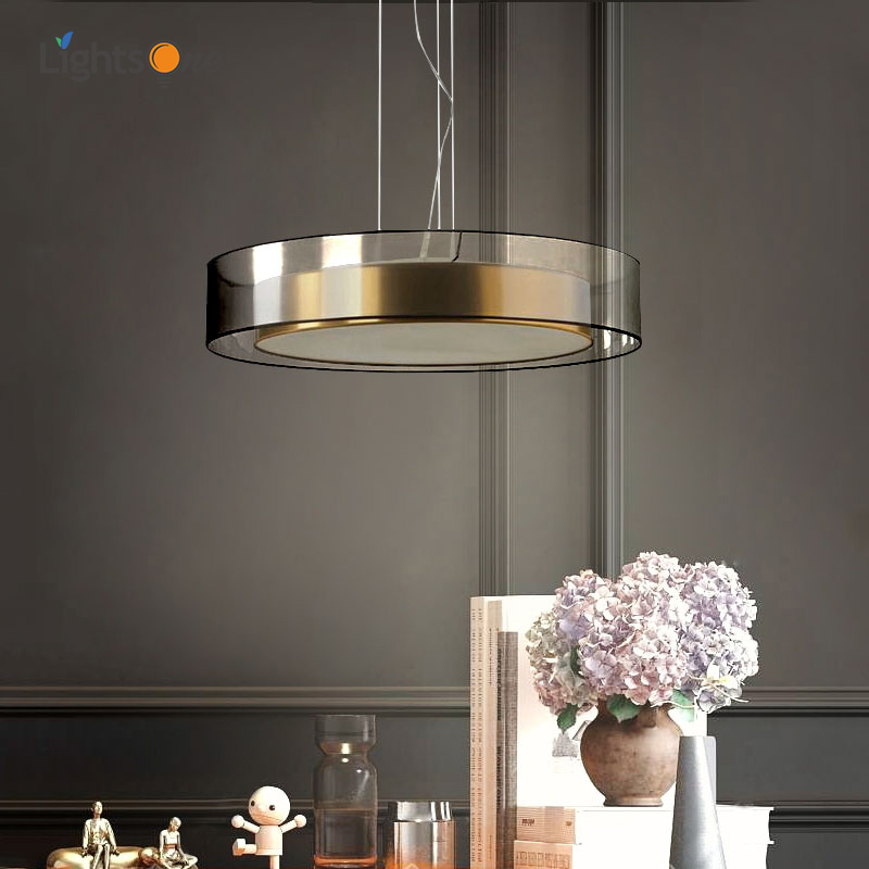 Post-modern copper restaurant light luxury pendant lamp Nordic minimalistic atmosphere master bedroom pendant lights