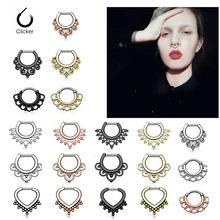 1PC Copper Hoop Nose Ring Nose Septum Piercing Fake Rings Clicker Daith Ear Cartilage Nariz Earring for Women Body Jewelry 16g 1pc copper nose ring nose septum hoop rings piercing clicker daith ear helix cartilage nariz earring for women body jewelry 16g