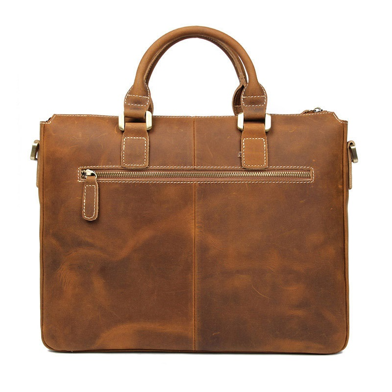 HOT Selling Business Men's Leather Handbag  MEN'S Retro Bag Horse Leather Shoulder Bag Hand Briefcase Computer Bag