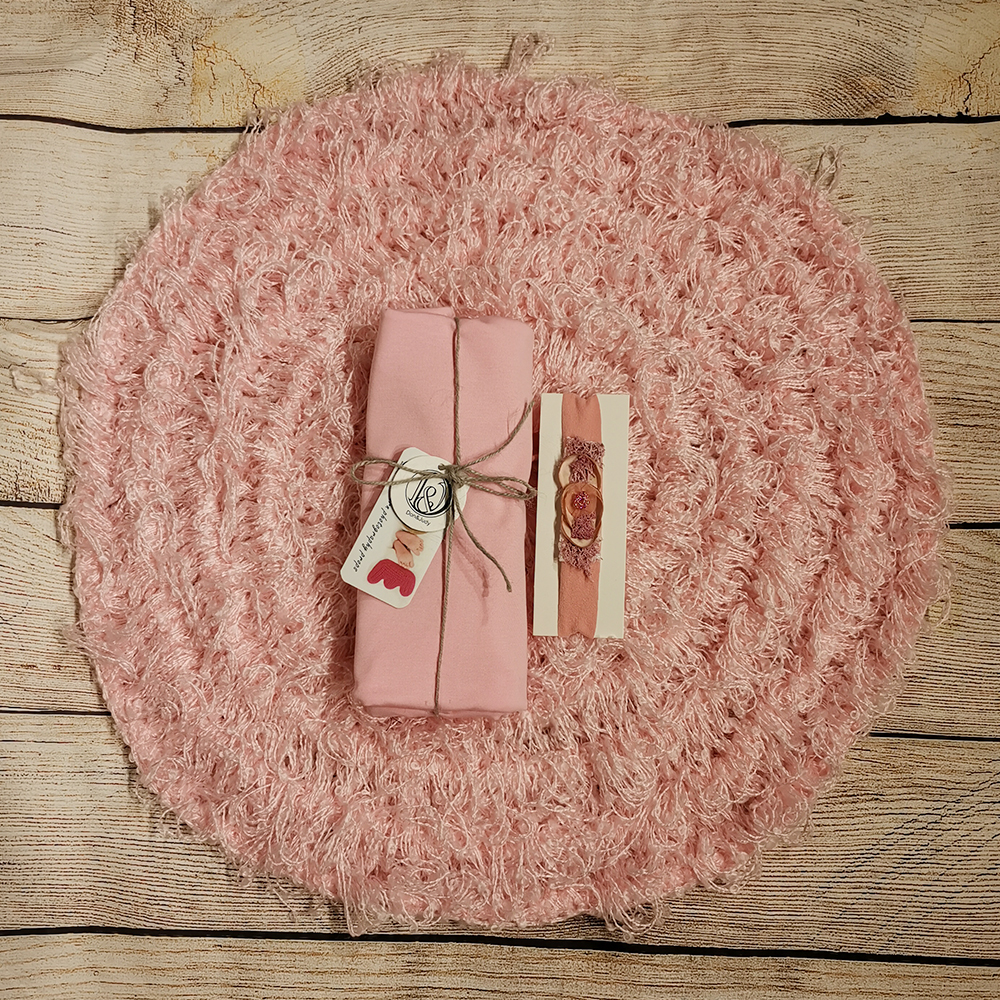 50cm Round Crocheted Blanket+Lycra 160x40cm Newborn Baby Backdrop+matched Cotton Headband For Newborn Photography Props