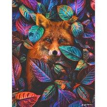 Diy картина по номерам с рисунками животных лисы из мультфильмов