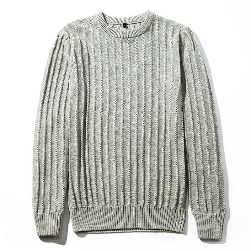 Long Sleeve Sweater For Men's Solid Color Pullover Men's Sweater 2019 Winter O-Neck 100% Cotton Warm MasculinoCasual  M-3XL Hot