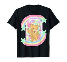 Yume Kawaii Pakaian Fashion Bear Di Permen Jar Pastel Goth T-shirt(China)